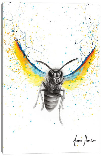 Brave Busy Bee Canvas Art Print