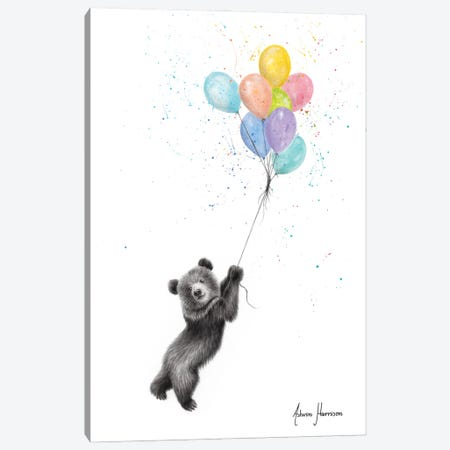 The Bear And The Balloons Canvas Print #VIN579} by Ashvin Harrison Art Print