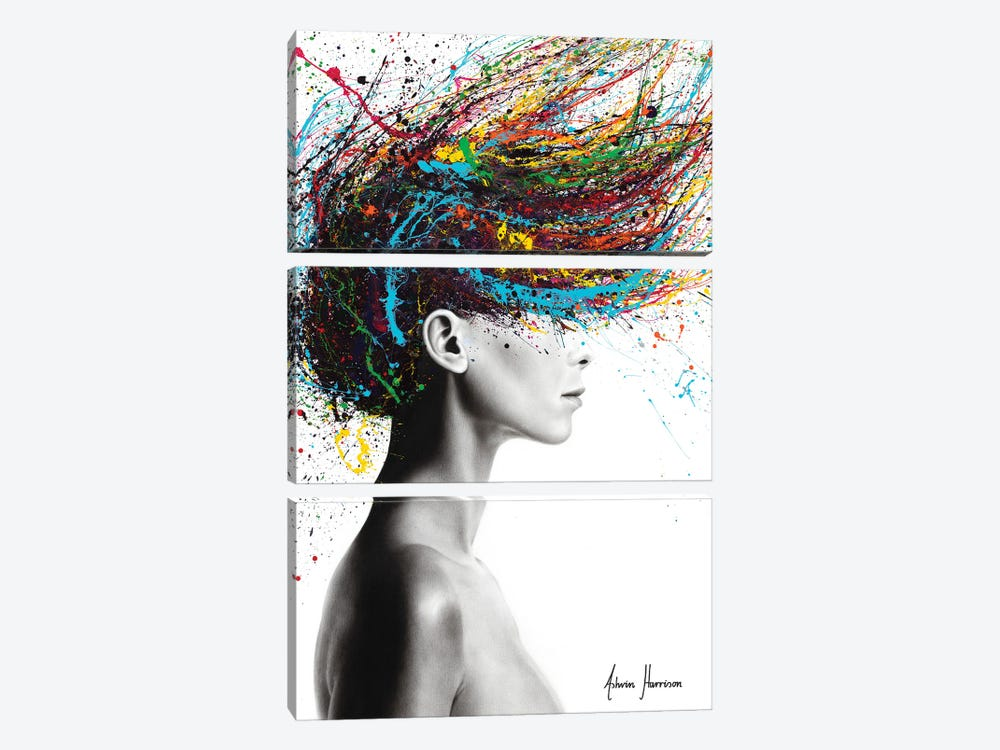 Thoughts Of Tomorrow by Ashvin Harrison 3-piece Canvas Print
