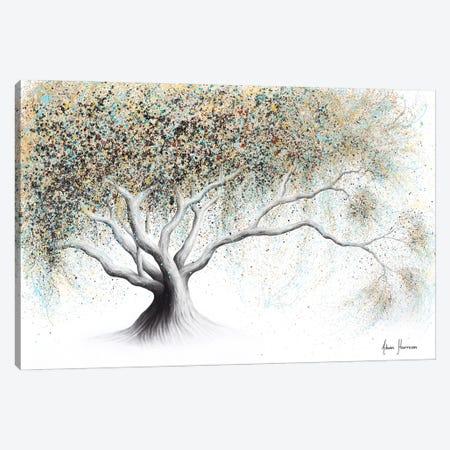 Gentle Golden Bloom Canvas Print #VIN584} by Ashvin Harrison Art Print