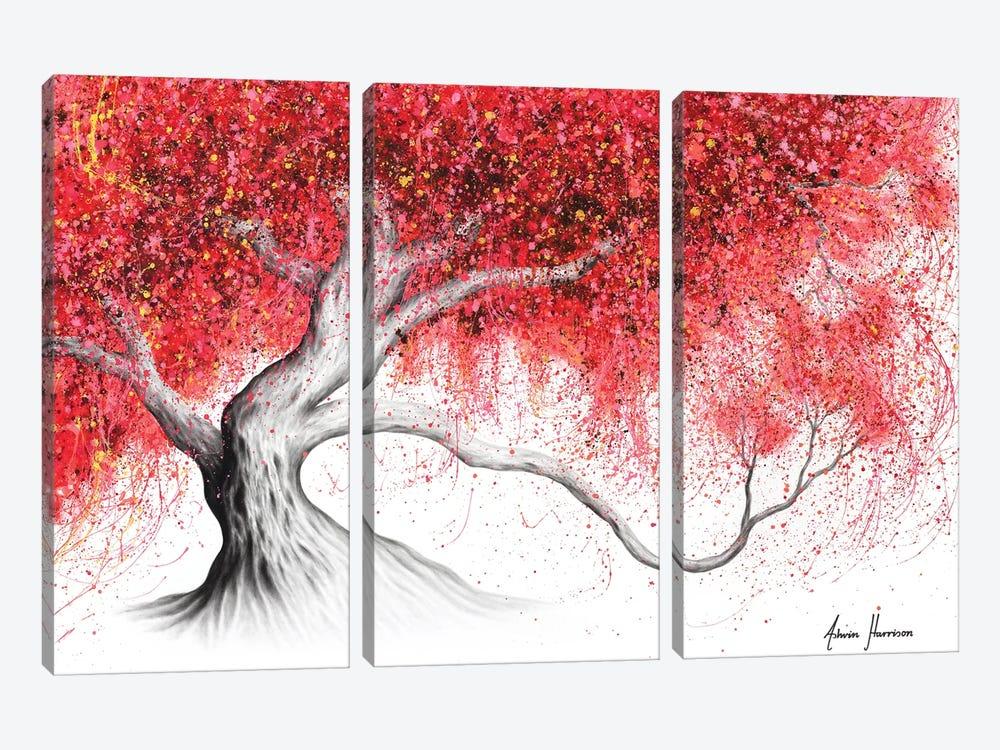 Strawberry Daze Tree by Ashvin Harrison 3-piece Canvas Wall Art