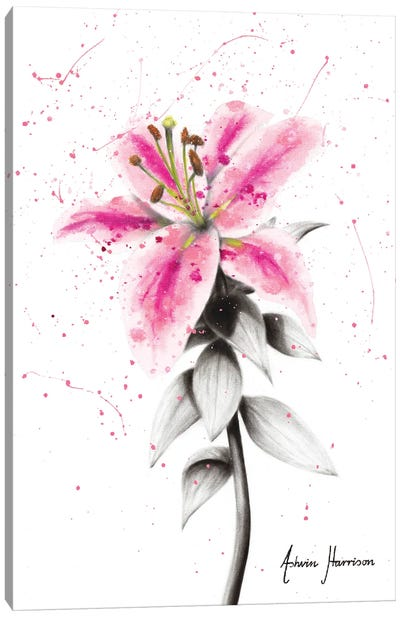 Lively Lily Canvas Art Print