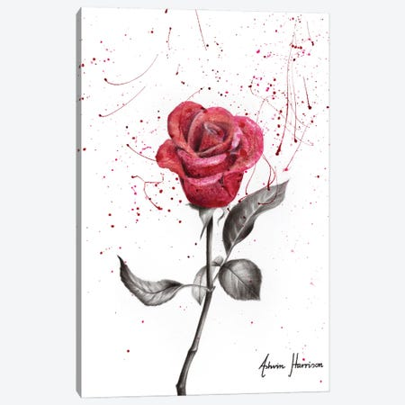 Wine Petal Rose Canvas Print #VIN593} by Ashvin Harrison Canvas Art Print