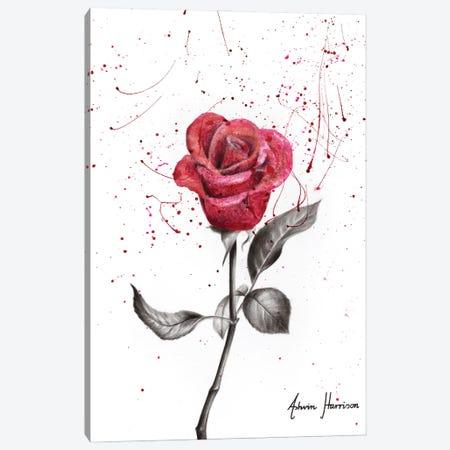 Wine Petal Rose Canvas Print #VIN593} by Ashvin Harrison Canvas Art Print