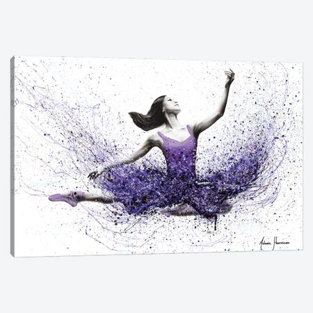 Violet Verve Dance Canvas Print #VIN599} by Ashvin Harrison Canvas Art Print
