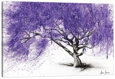 Meet You At The Jacaranda Canvas Art Print