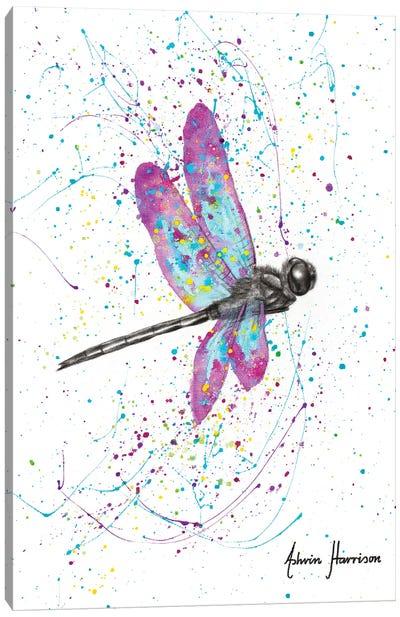 Dancing Dragonfly Canvas Art Print