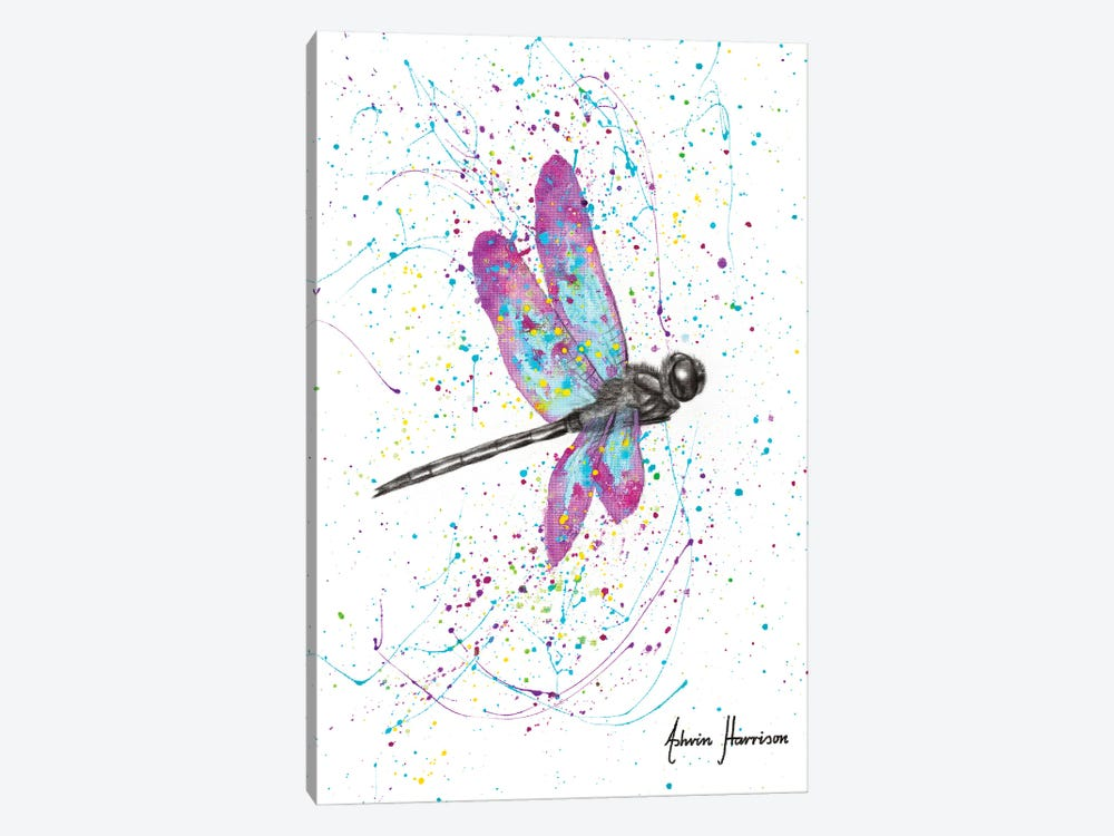 Dancing Dragonfly by Ashvin Harrison 1-piece Canvas Print