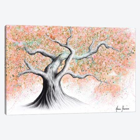 Sunshine Peach Tree Canvas Print #VIN607} by Ashvin Harrison Canvas Artwork