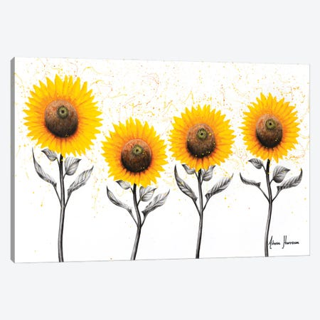 Sunflower Family Canvas Print #VIN612} by Ashvin Harrison Canvas Art
