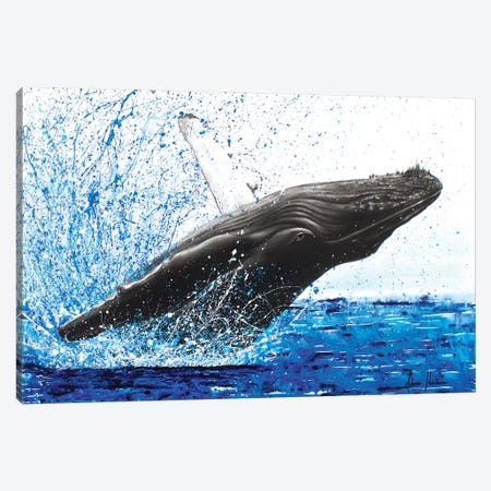 Moreton Whale Dance Canvas Print #VIN61} by Ashvin Harrison Canvas Art Print