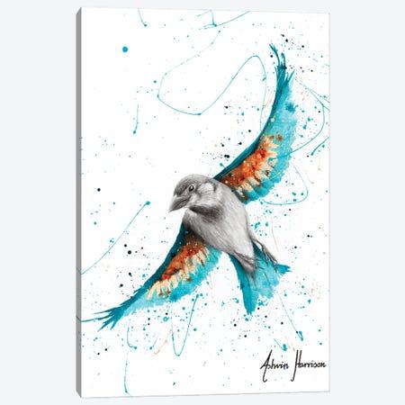 Sunny Turquoise Bird Canvas Print #VIN620} by Ashvin Harrison Canvas Art Print