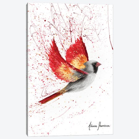 Caring Cardinal Canvas Print #VIN623} by Ashvin Harrison Canvas Art Print