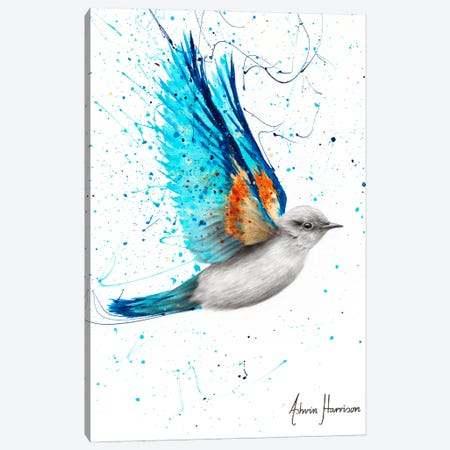 Happy Blue Canvas Print #VIN624} by Ashvin Harrison Canvas Art