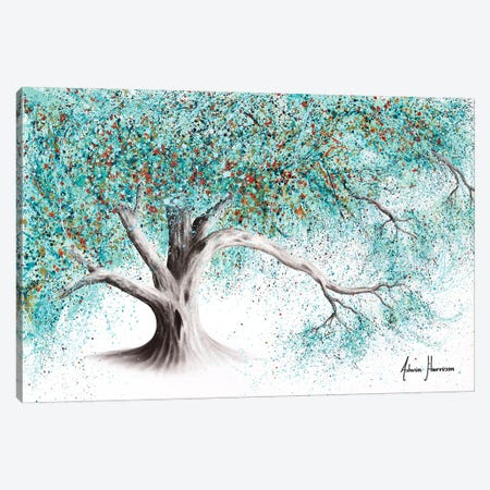 Turquoise Blush Tree Canvas Print #VIN625} by Ashvin Harrison Canvas Art