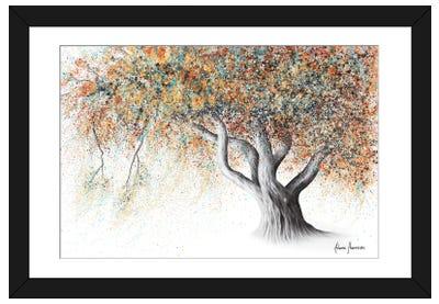 Rusty Autumn Tree Framed Art Print