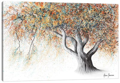 Rusty Autumn Tree Canvas Art Print