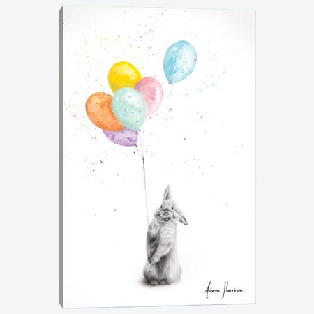 Buster and His Balloons Canvas Print #VIN628} by Ashvin Harrison Canvas Print