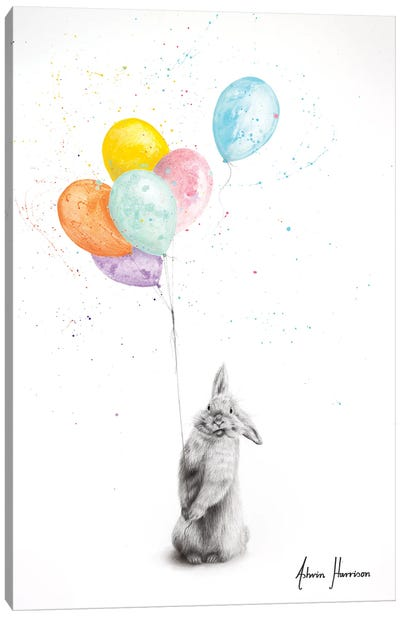 Buster and His Balloons Canvas Art Print