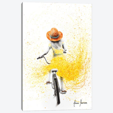 Her Sunshine Ride 3-Piece Canvas #VIN634} by Ashvin Harrison Canvas Print