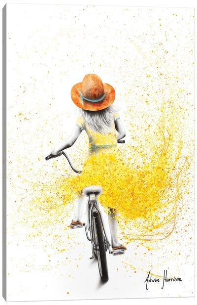 Her Sunshine Ride Canvas Art Print