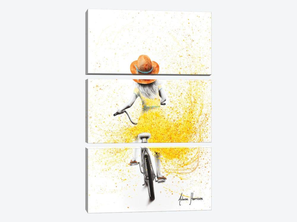 Her Sunshine Ride by Ashvin Harrison 3-piece Canvas Print