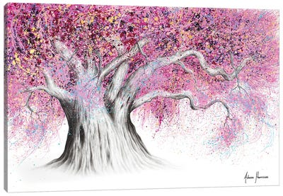 Pink Party Tree Canvas Art Print