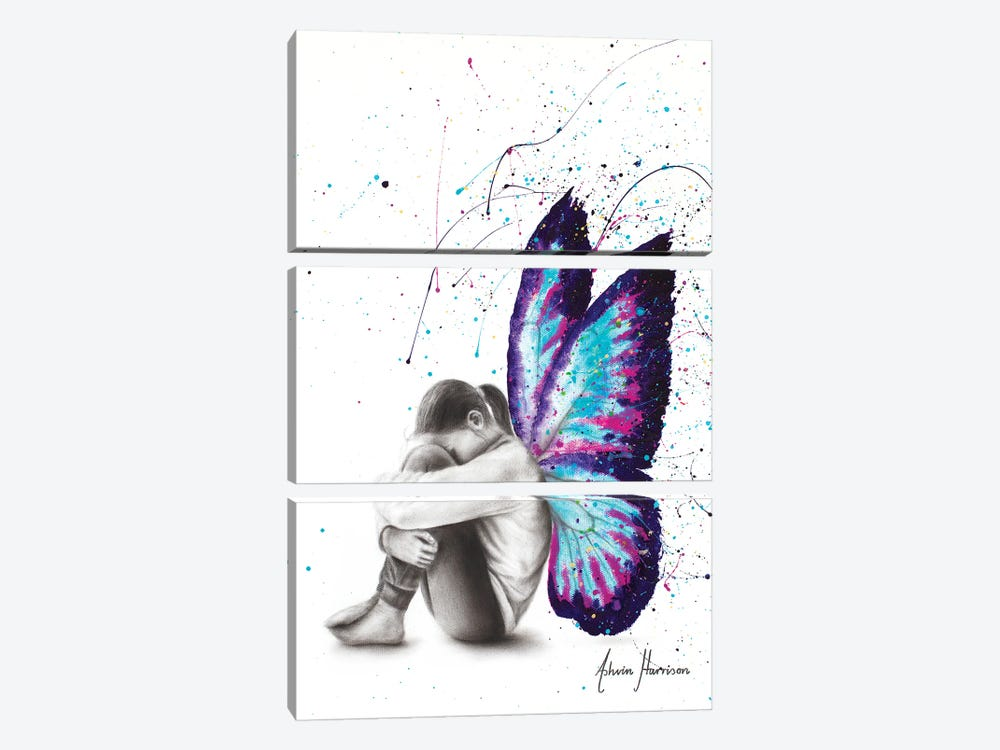 Butterfly Dreaming by Ashvin Harrison 3-piece Canvas Art