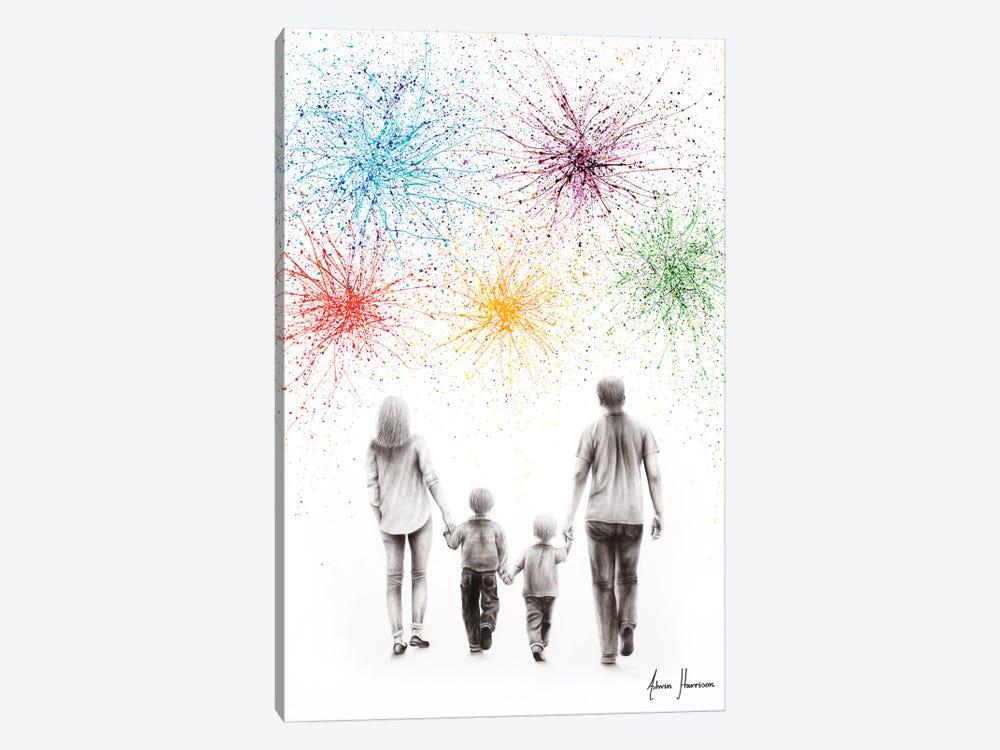 A Family Cheer by Ashvin Harrison 1-piece Art Print
