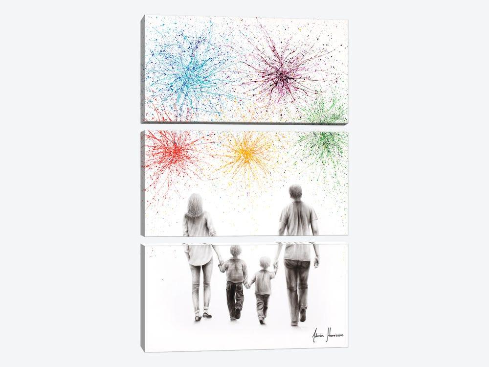 A Family Cheer by Ashvin Harrison 3-piece Art Print
