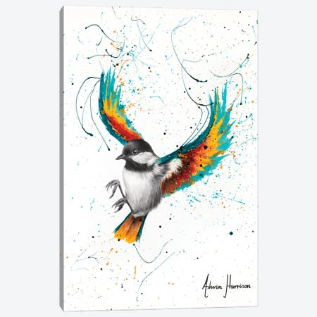 Solo Sounds Bird Canvas Print #VIN647} by Ashvin Harrison Canvas Artwork