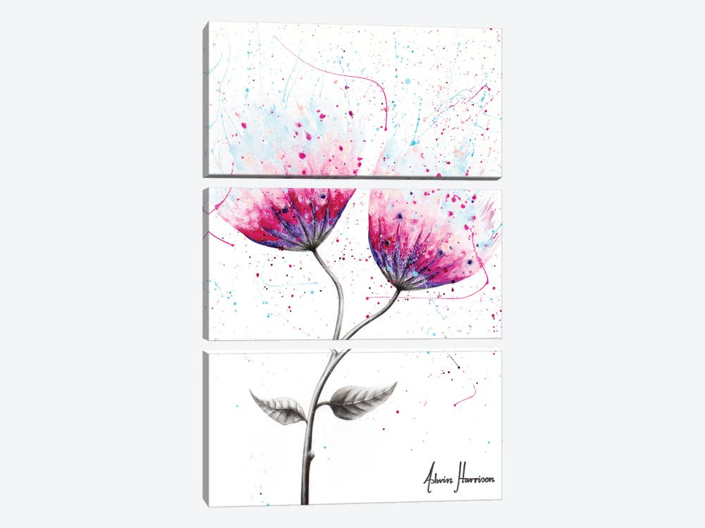 Due Bloom by Ashvin Harrison 3-piece Canvas Artwork