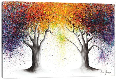 Paralleled Prism Trees Canvas Art Print