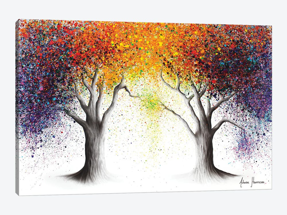 Paralleled Prism Trees by Ashvin Harrison 1-piece Canvas Print