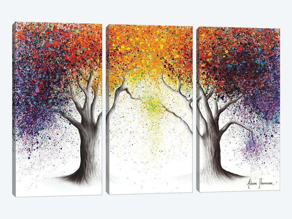 Paralleled Prism Trees by Ashvin Harrison 3-piece Art Print