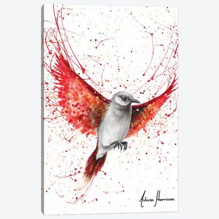 Singing Scarlet Canvas Print #VIN662} by Ashvin Harrison Art Print