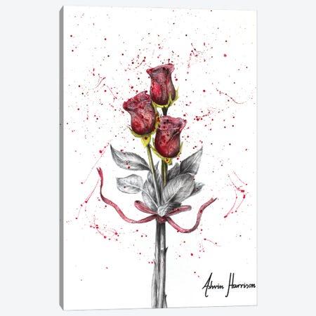 Deep Love Roses Canvas Print #VIN669} by Ashvin Harrison Art Print