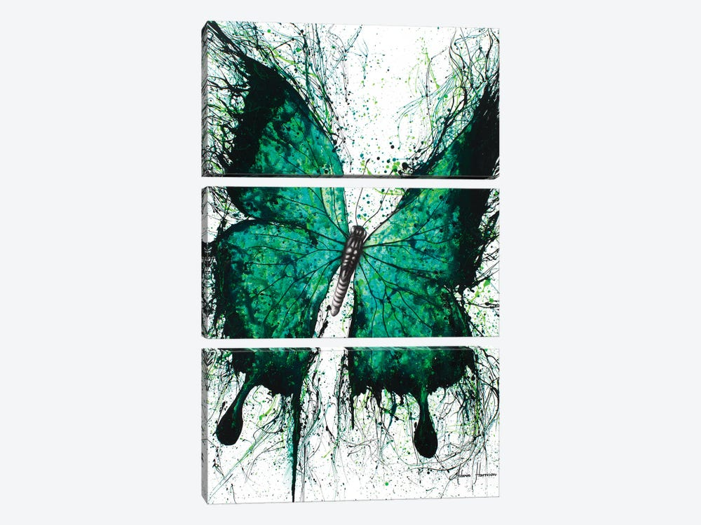 Night Garden Butterfly by Ashvin Harrison 3-piece Canvas Print
