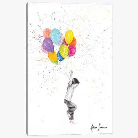 Happy Balloon Boy Canvas Print #VIN672} by Ashvin Harrison Canvas Wall Art