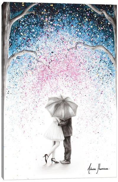 The Midnight Kiss Canvas Art Print