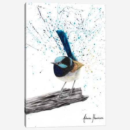 Patient Blue Bird Canvas Print #VIN688} by Ashvin Harrison Canvas Art Print