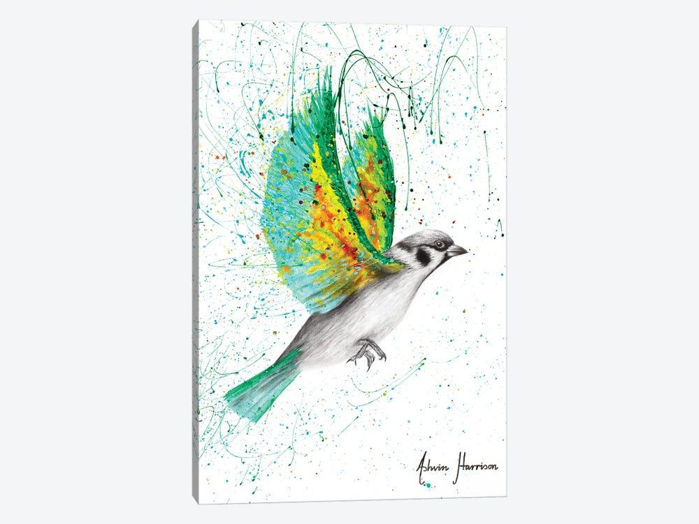 Emerald Shore Bird by Ashvin Harrison 1-piece Canvas Art Print