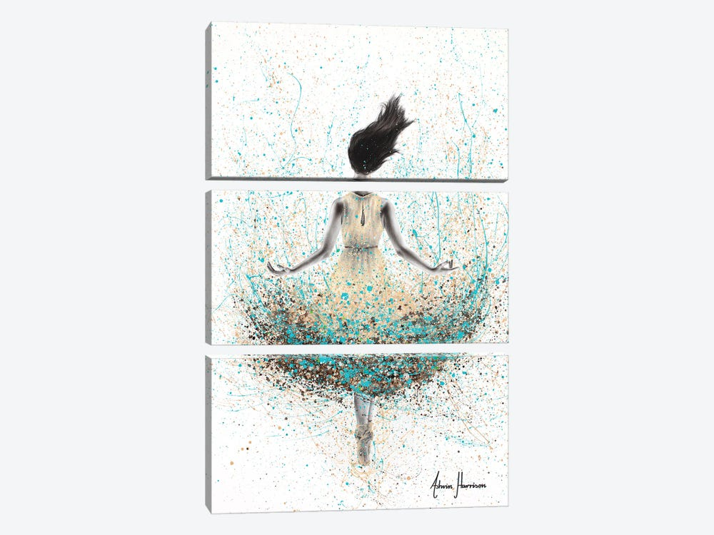 Wheat River Ballerina by Ashvin Harrison 3-piece Art Print