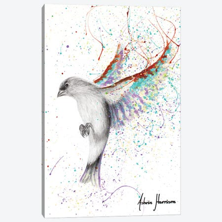 Lavender Lake Bird Canvas Print #VIN693} by Ashvin Harrison Canvas Art