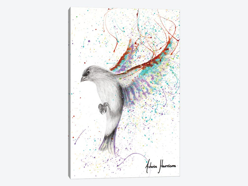 Lavender Lake Bird by Ashvin Harrison 1-piece Canvas Artwork