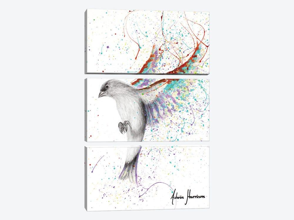 Lavender Lake Bird by Ashvin Harrison 3-piece Canvas Wall Art