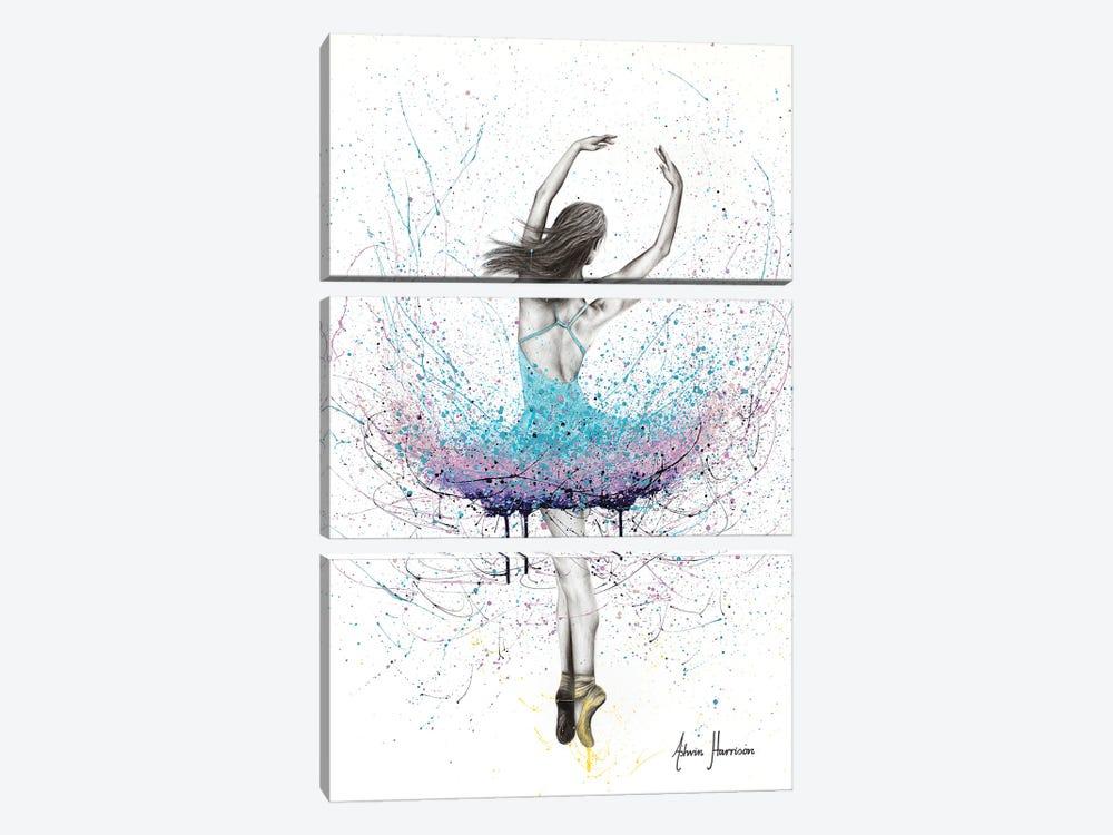 Twirling Flower Dance by Ashvin Harrison 3-piece Canvas Artwork