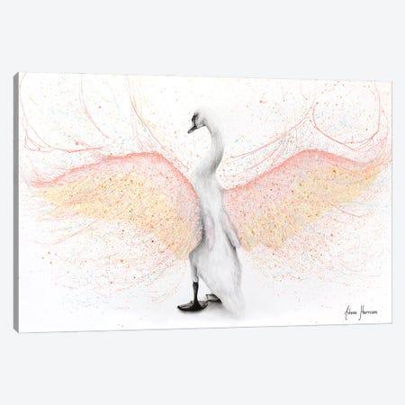 White Swan Canvas Print #VIN699} by Ashvin Harrison Canvas Wall Art