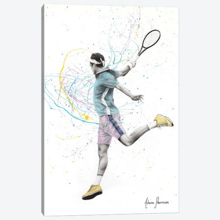 Tennis Player Canvas Print #VIN700} by Ashvin Harrison Canvas Artwork
