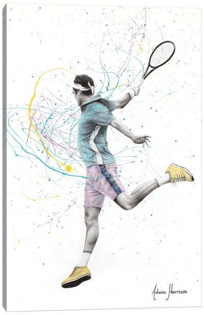 Tennis Player Canvas Art Print